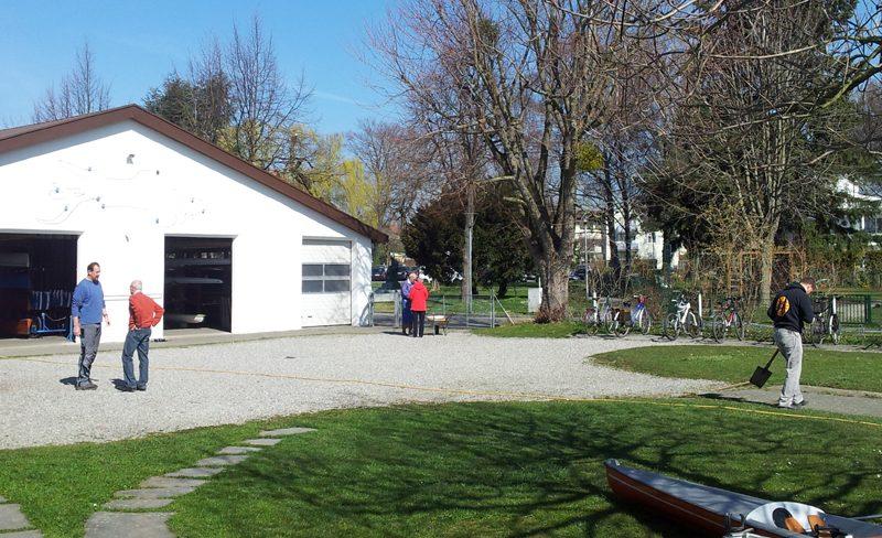 Bootshaus, Vereinsgelände (2014 Herbstputz)